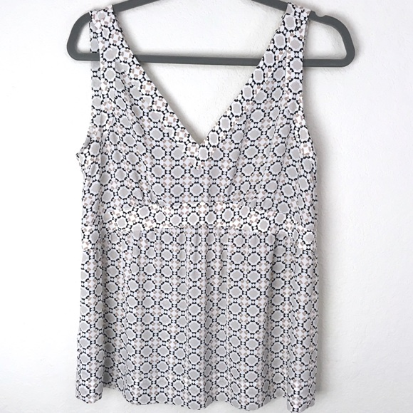 Ann Taylor LOFT Taupe beige Cream sequins sleeveless women/'s Dressy Top